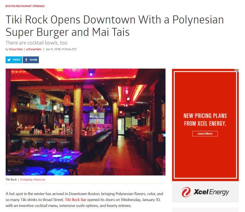 Tiki Rock Opens Downtown With a Polynesian Super Burger and Mai Tais