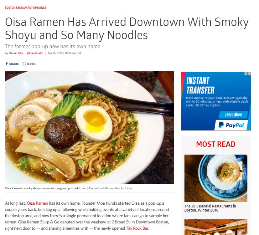 Oisa Ramen Has Arrived Downtown With Smoky Shoyu and So Many Noodles