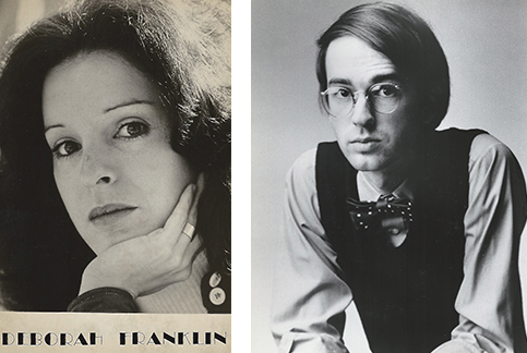 "Our professional acting photos, called ""head shots."" Debbie took the stage name of ""Franklin"" in honor of her grandfather Frank. My photo caught the eye of a modeling agency and led to my brief career as a model for national magazine ads."