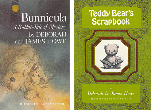 The original covers of  Bunnicula  and  Teddy Bear's Scrapbook .