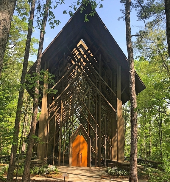 The Anthony Chapel in the stunning  Garvan Woodland Gardens .