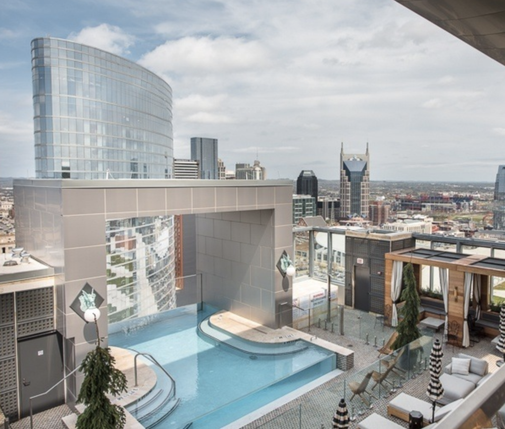 The view from  The Westin Nashville  rooftop.  Image: Tausha Dickinson