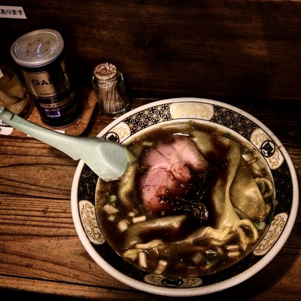 Shio Ramen w/ handcut noodles -Nagi Golden Gai- Shinjuku, Tokyo