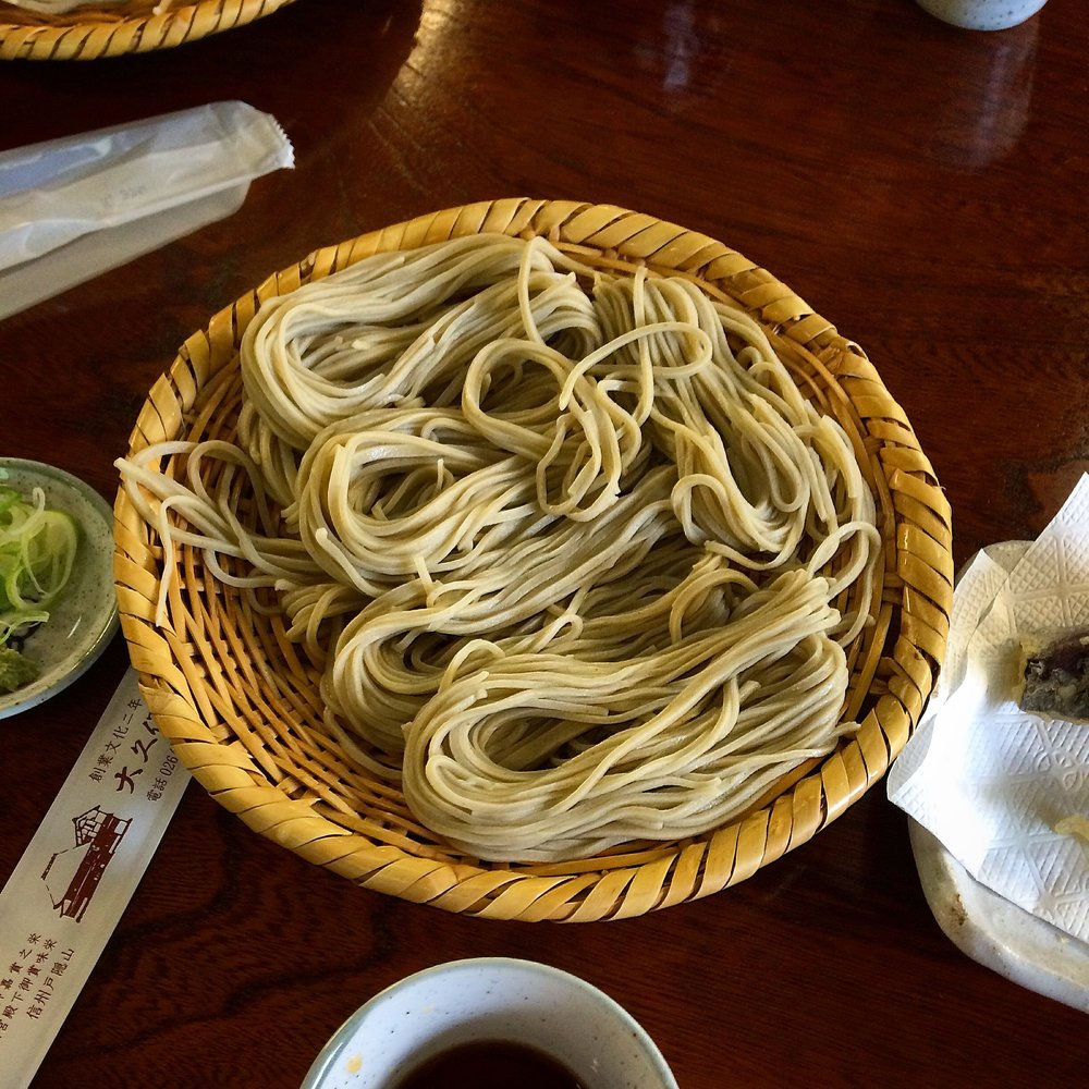 Soba, traditionally presented - Soba Nomi - Togakushi, Nagano