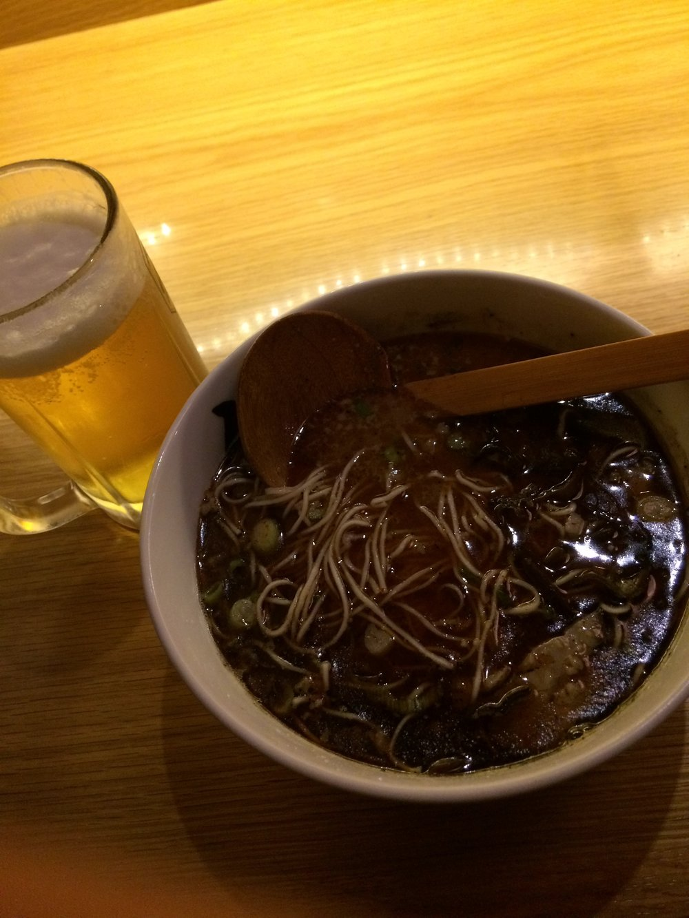 - A beer to hold the buzz, a ramen to blow your mind.