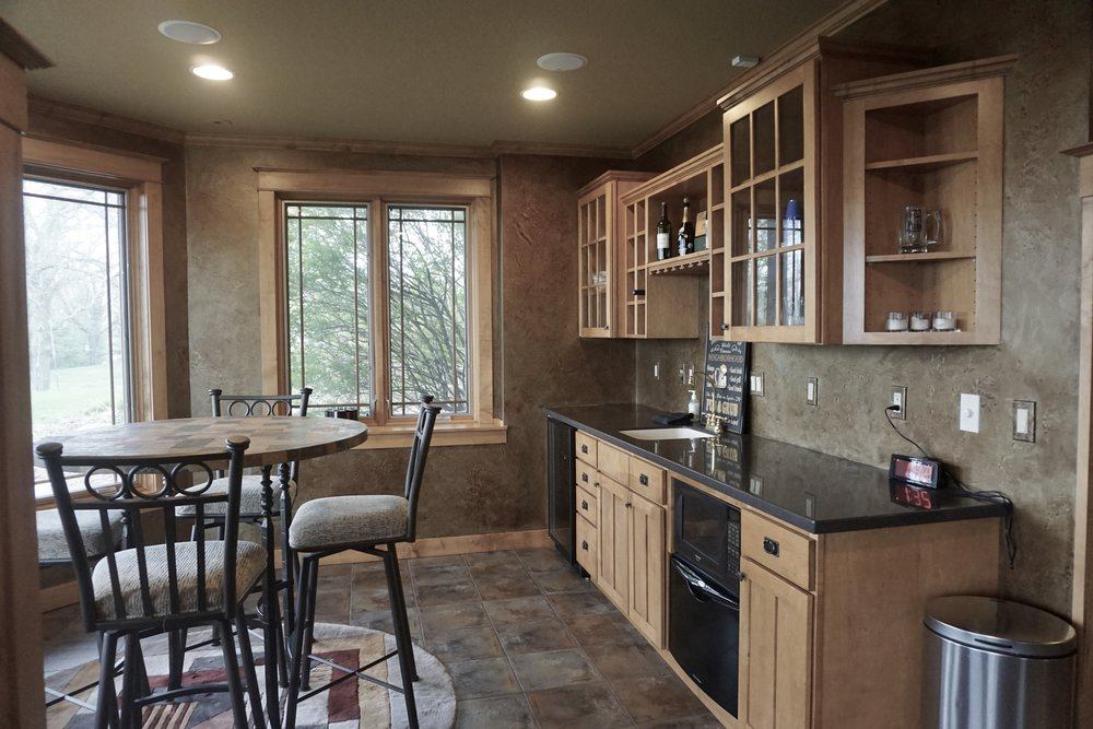 Bar (including beverage refrigerator, dishwasher drawer, under cabinet lighting)
