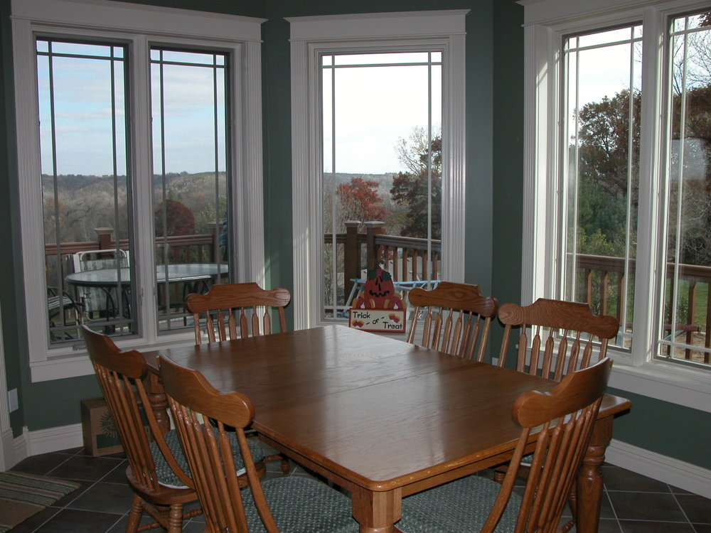 BREAKFAST NOOK - SHOWN HERE WITH A TABLE