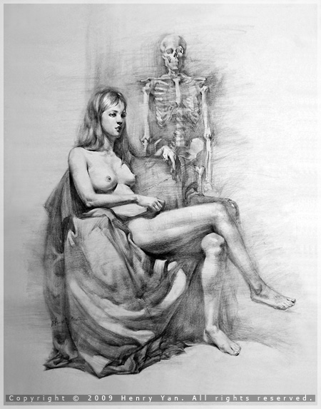 Figure Drawing With Charcoal Henry Yan LIV CHIU Art Studio