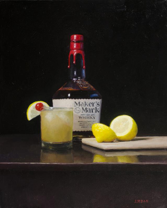 """Whiskey Sour"" 2015 oil on canvas 20""x16"" *AVAILABLE"