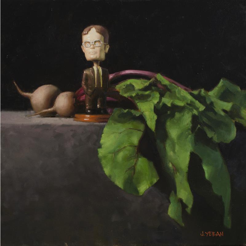 """""""The Beet Farmer"""" 2014 oil on canvas 18""""x18"""" *AVAILABLE"""