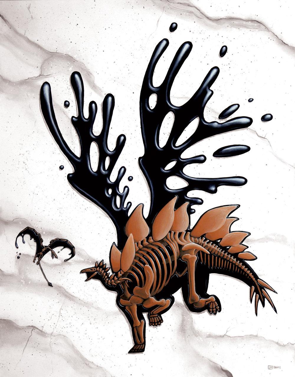 Stegosaurus & Rhamphorhynchus