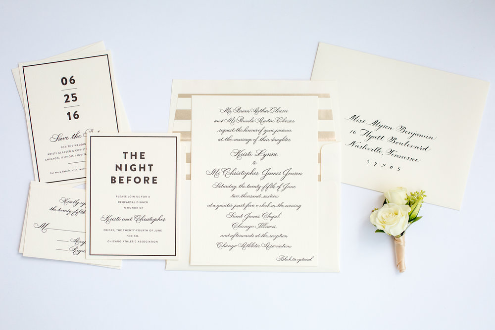 magnificent milestones | wedding invitations | formal collection