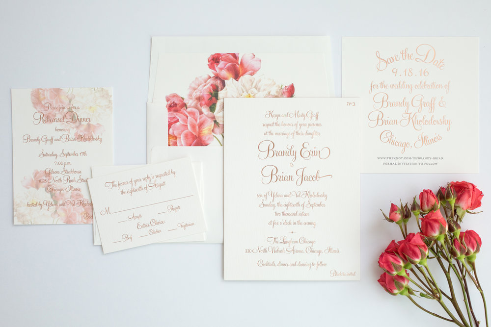 magnificent milestones | wedding invitations | garden collection