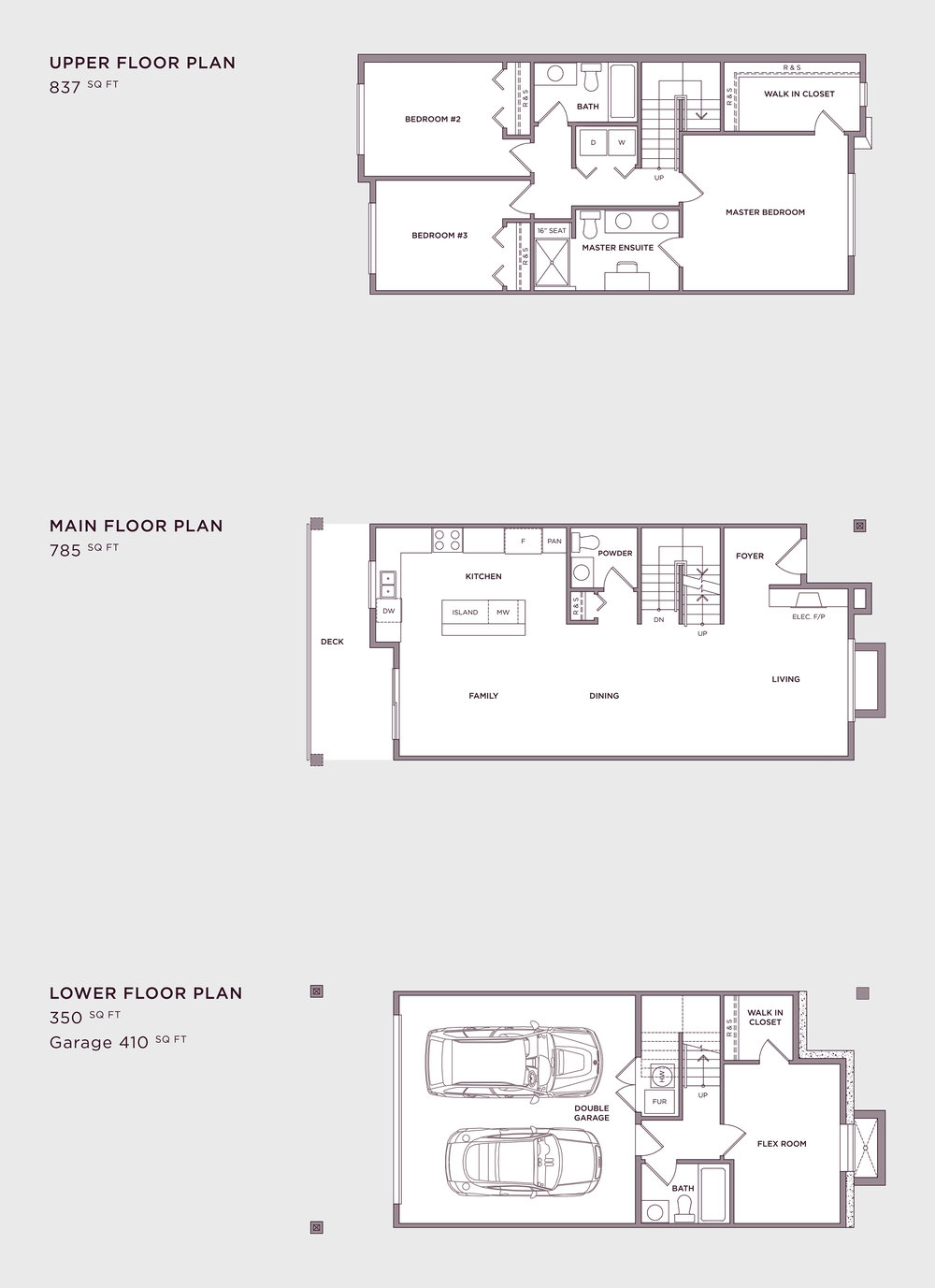 Plan A3 Imperial Townhome