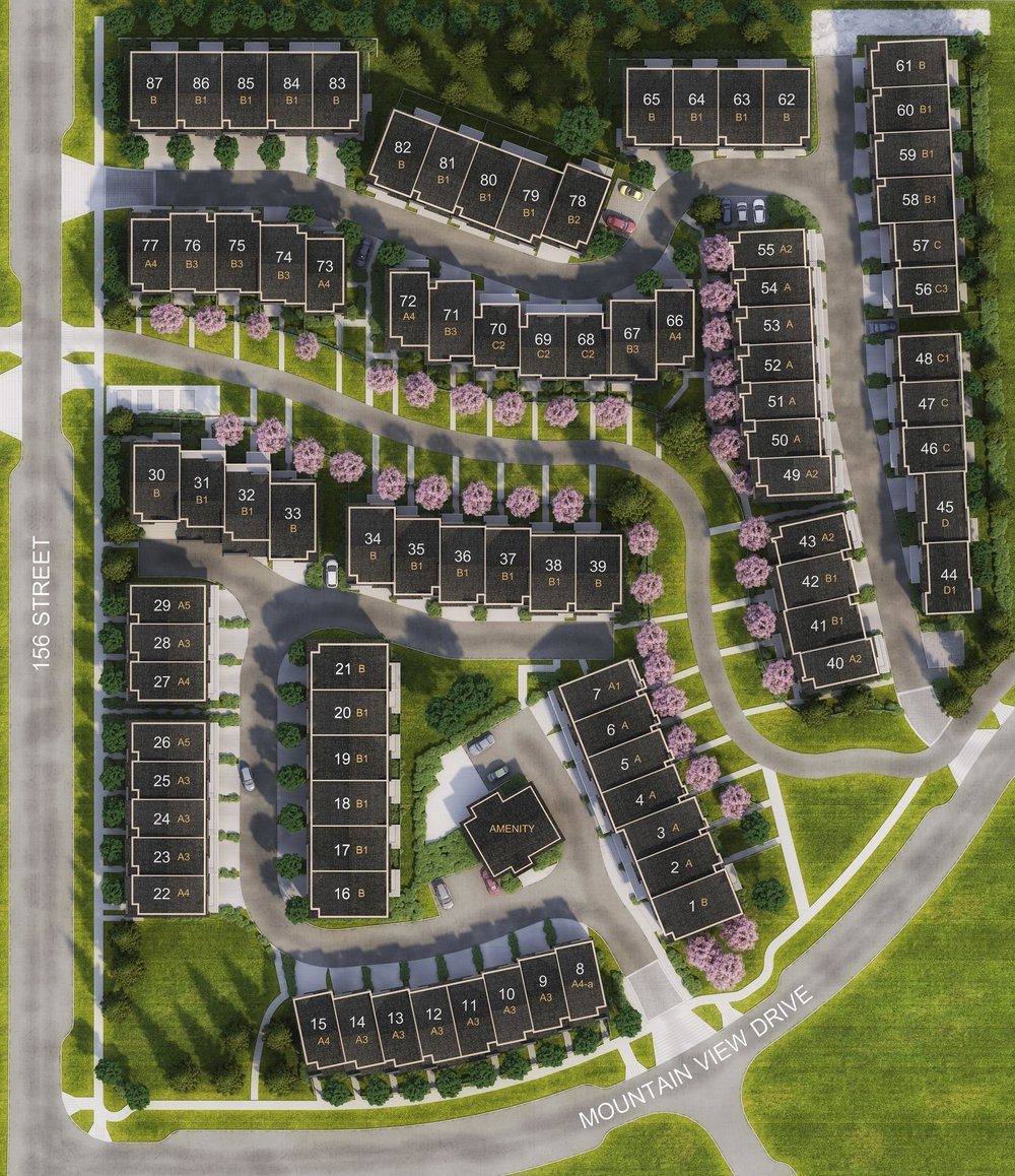 Imperial Townhomes Site Plan, South Surrey, Grandview Heights, Mountain View Drive