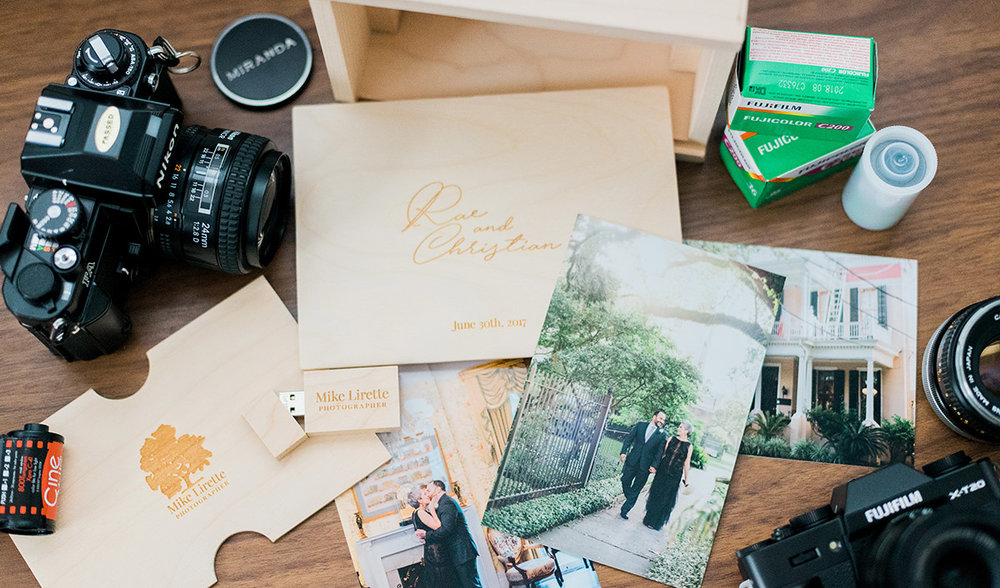 Personalized, Wooden Keepsake Box with USB Drive - INCLUDED  WITH  EVERY  WEDDING