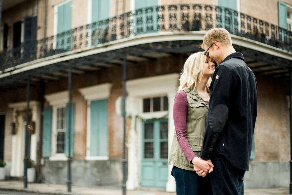French Quarter Engagement Portrait Session Photographer