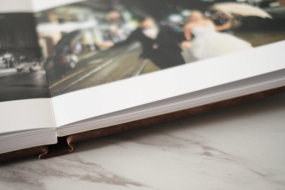 Images are printed directly onto the pages. The attention to detail is second to none