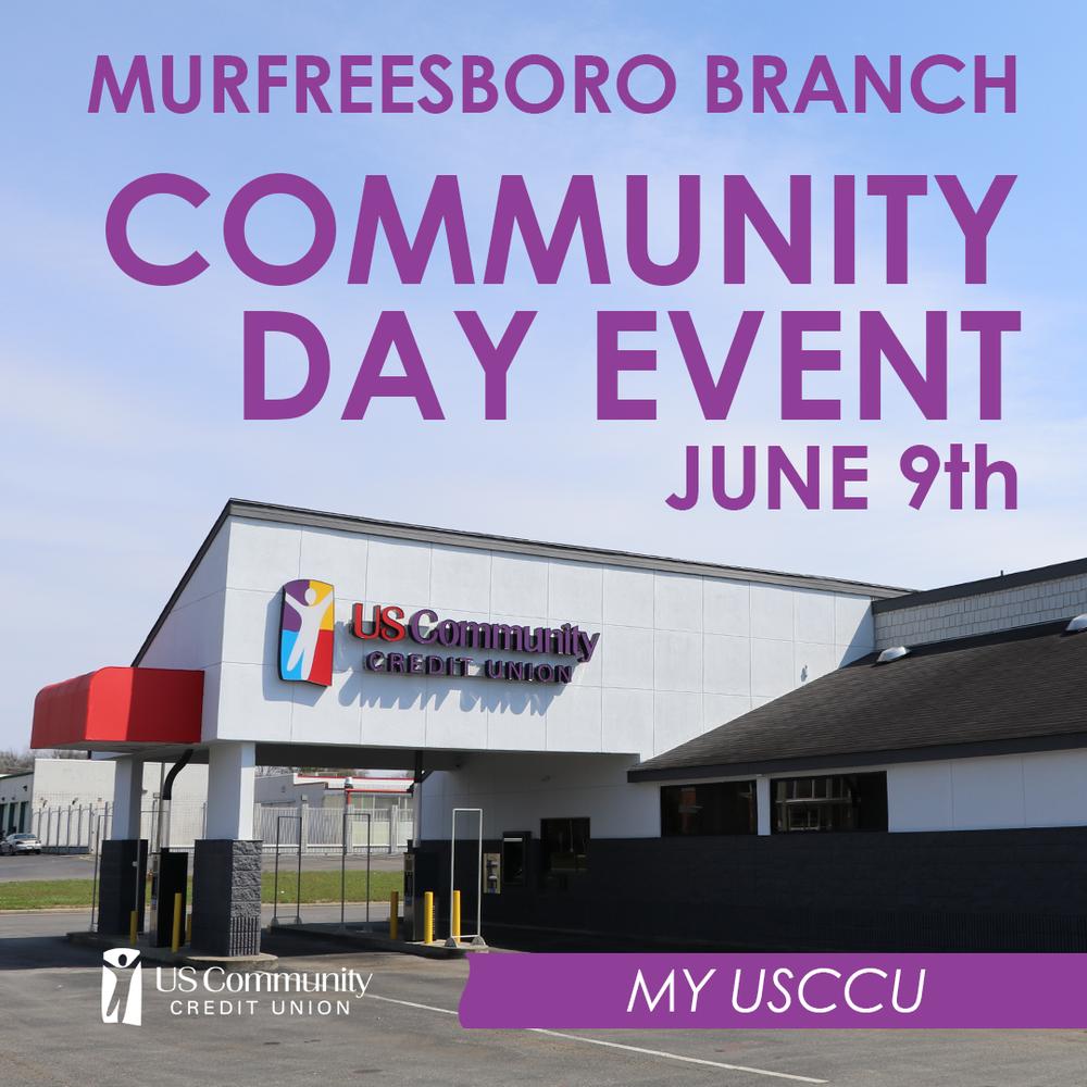 Murfreesboro Branch community day event June 9th