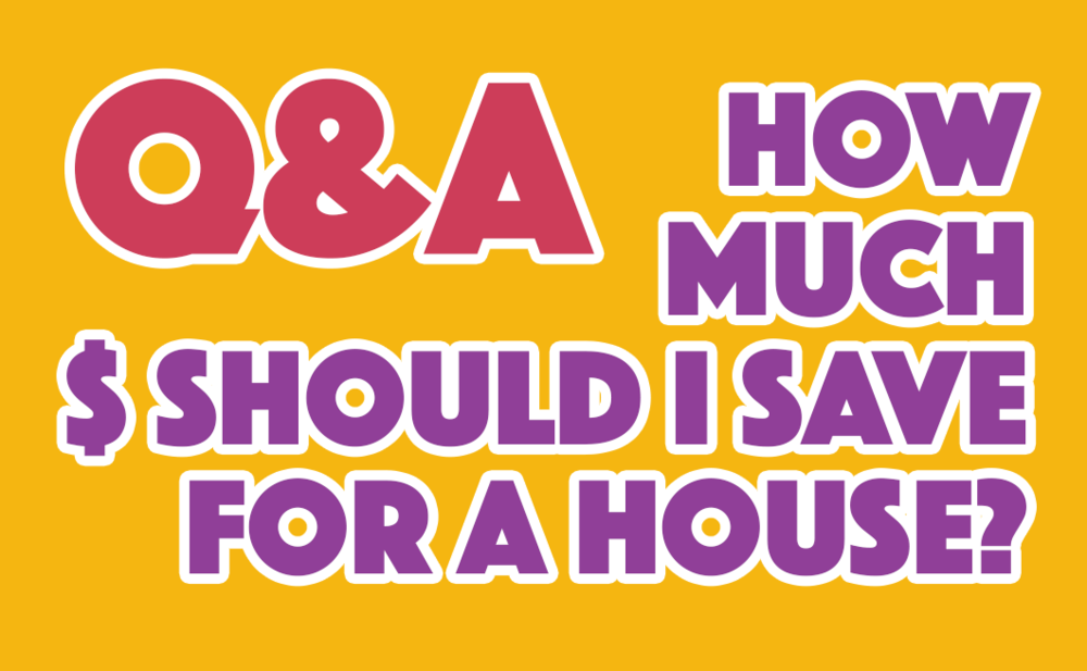 Q & A How much should I save for a house?