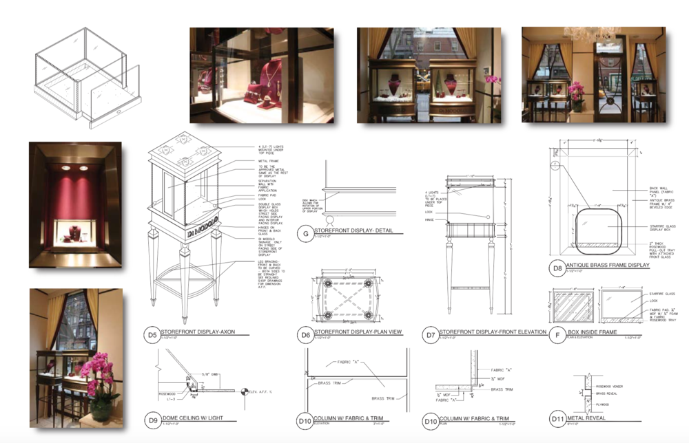 PART OF A CONSTRUCTION DOCUMENT SET FOR MADISON AVE. BOUTIQUE