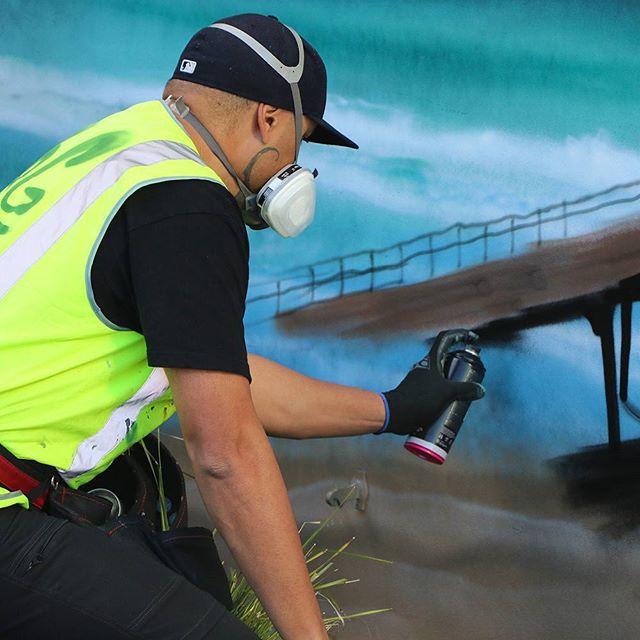Tolaga Bay is stunning! #farmlands #mrg #heartofthecommunitynz #gisborne #artistsoninstagram #contemporaryart #instaartist #urbanart #streetart #instaart #nzart #newzealand #streetarteverywhere #streetartistry #nzartist #mural #wallpainting #artsy #urbanwalls