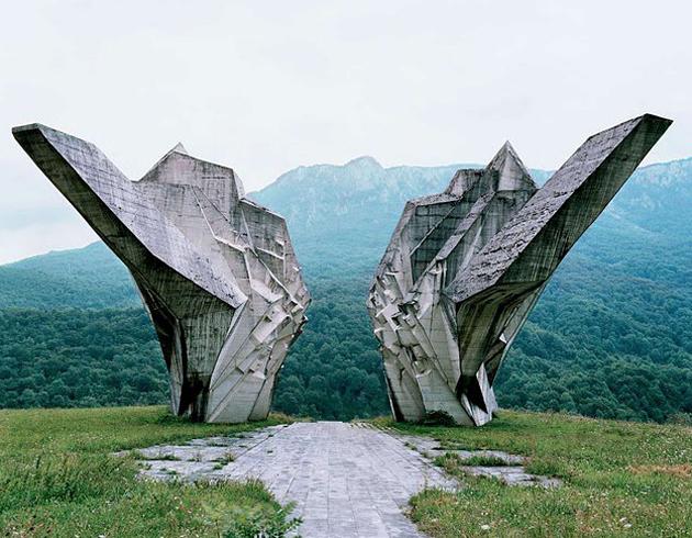 Battle of Sutjeska monument in Tjentište, Bosnia