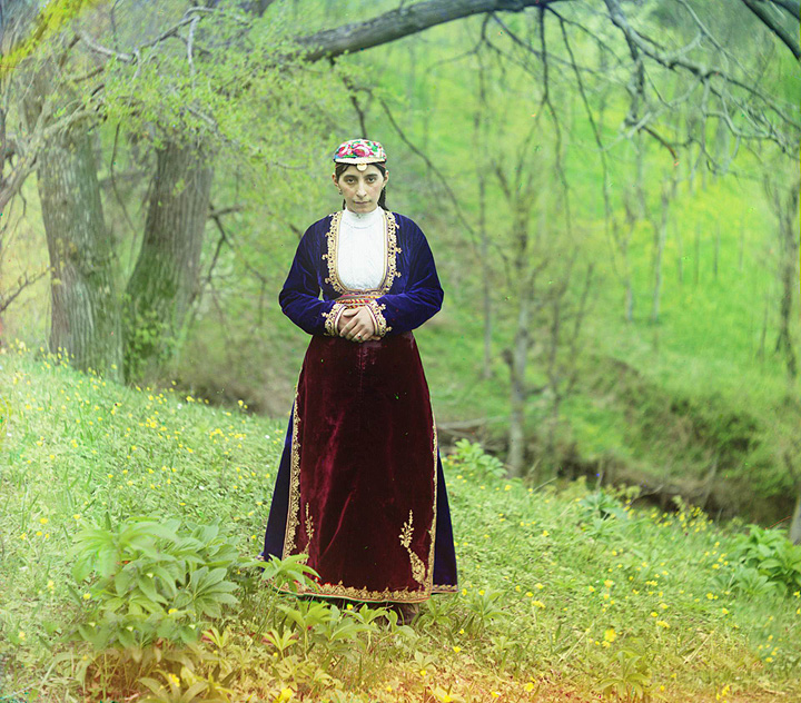 Woman in national costume. Artvin. 1905-1915.