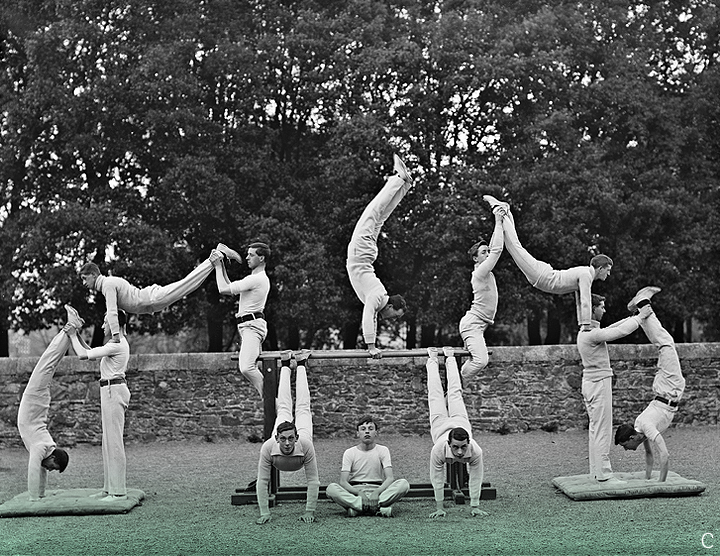 C.  27 April 1909 // Physical Culture Class from the Poole Collection.