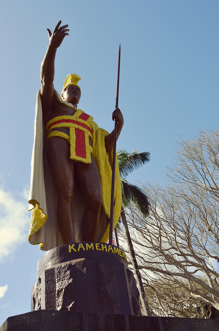 Supposedly life-sized (10ft!) statue of King Kamehameha