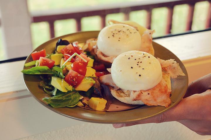 Homemade eggs benny