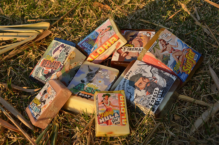 Our loot from the market, Filthy Farmgirl soap