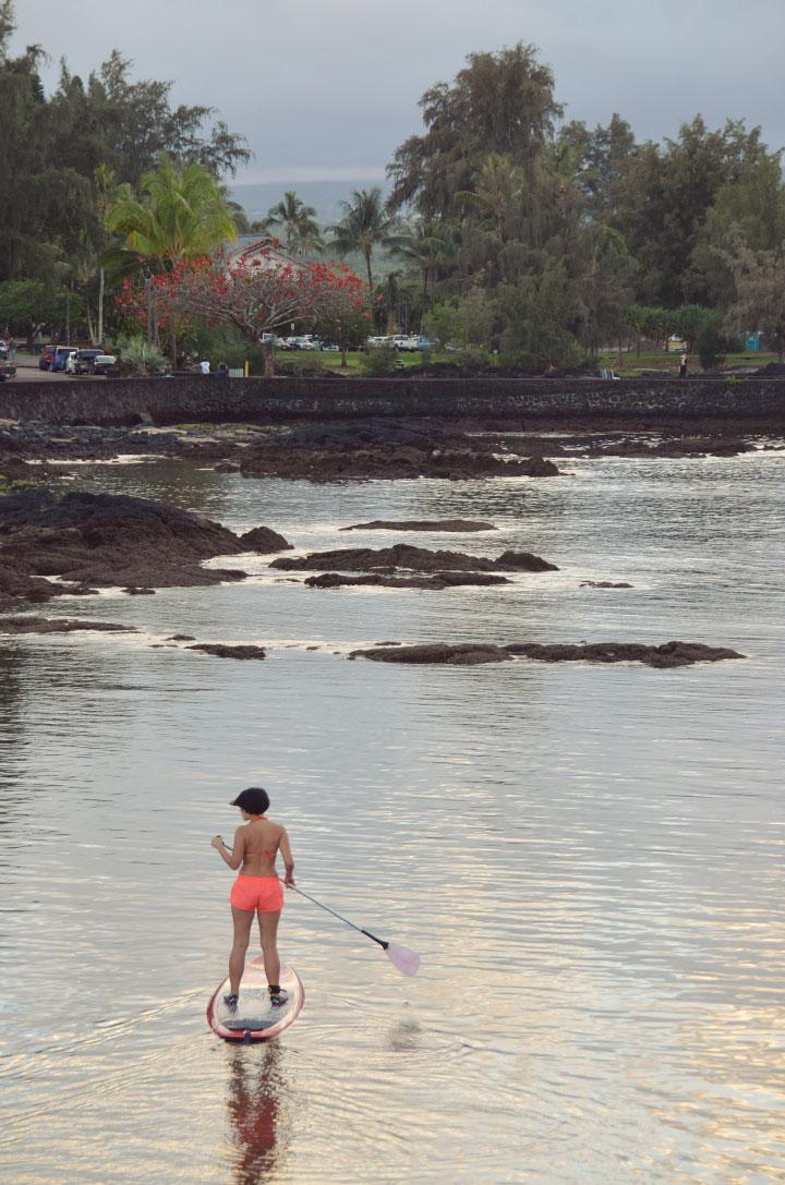 Zen paddle boarding