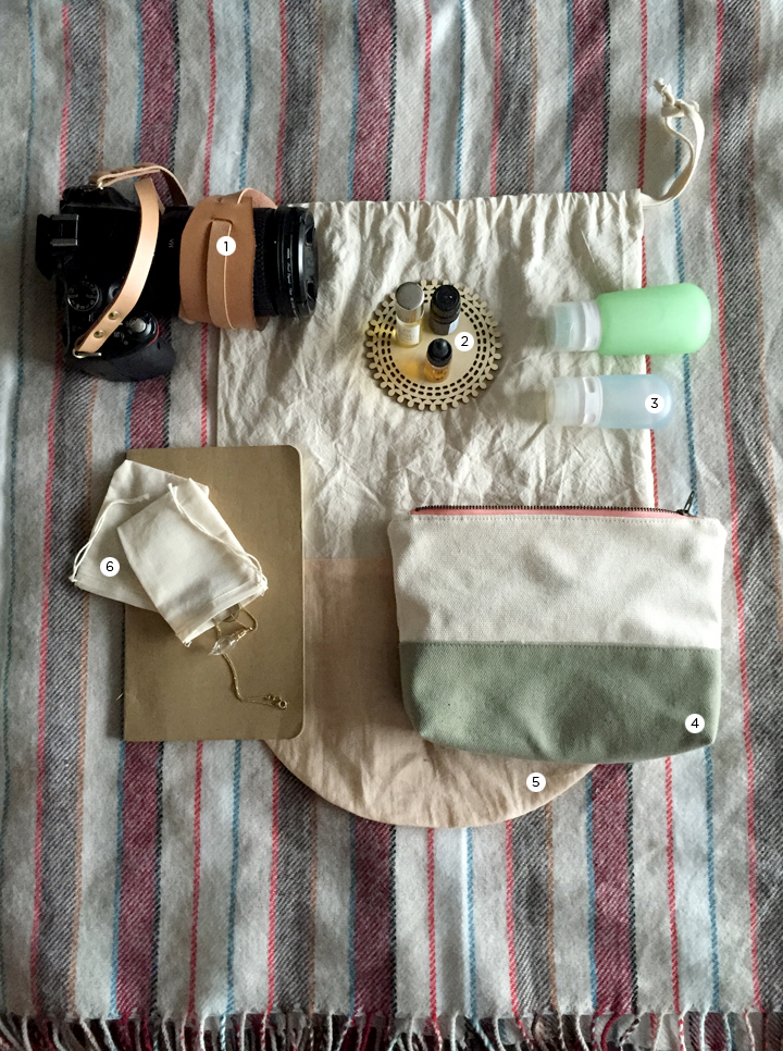 packing light, travel gear, natural products