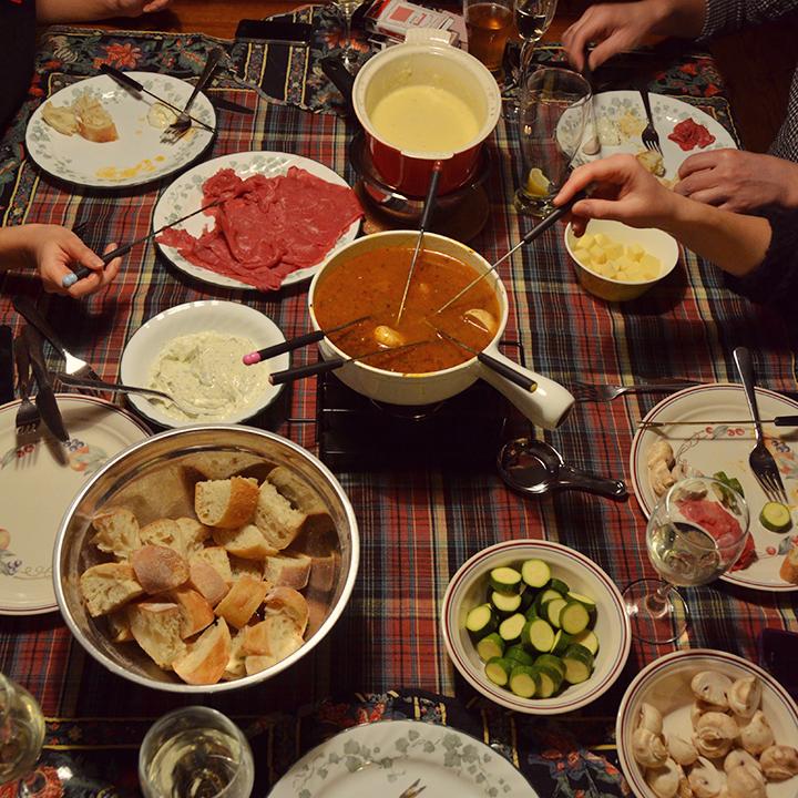 Quebecois fondue feast