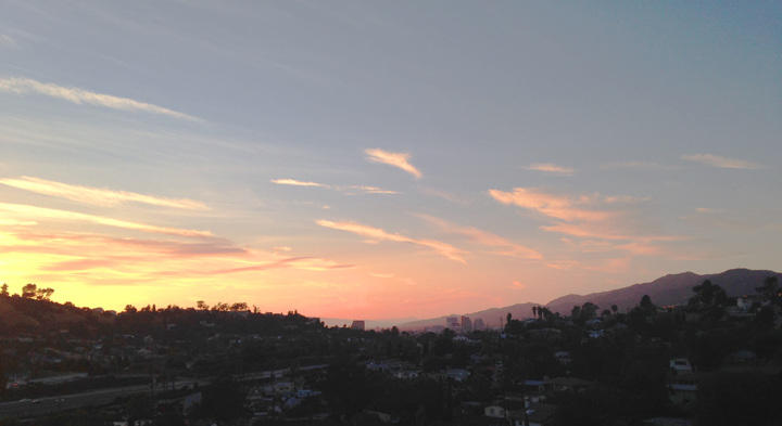 Sweet LA sunset