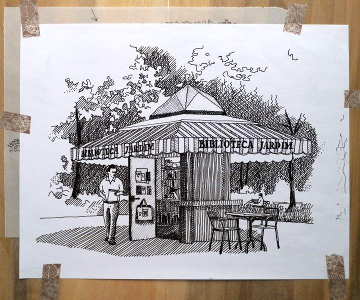 Biblioteca Jardim, Park Estrela, Lisbon