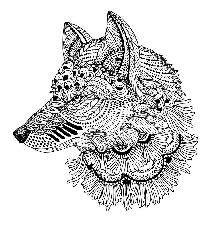 zentangle wolf jori van der linde
