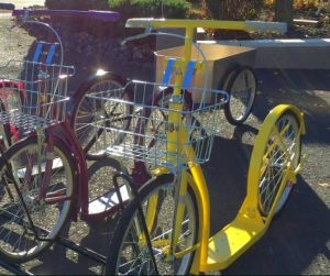 Being an avid RVer and enjoying the simple things of life, we partnered with our Amish friends to offer you what we find to be very fun, fit and fabulous to own. These scooters are well crafted for a lifetime of practicality and enjoyment.   http://www.mbl2.com/   Email:  mblwhl3@gmail.com   PHONE: 267.382.0806  203 S. Allentown Road, Telford Pa 18969
