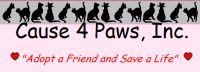 Cause 4 Paws PO Box 2904 Westfield, NJ 07091 (908) 377-4759 or (908) 687-4227 http://members.petfinder.com/~NJ353