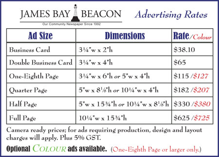 Advertise with us james bay beacon advertise with us reheart Choice Image