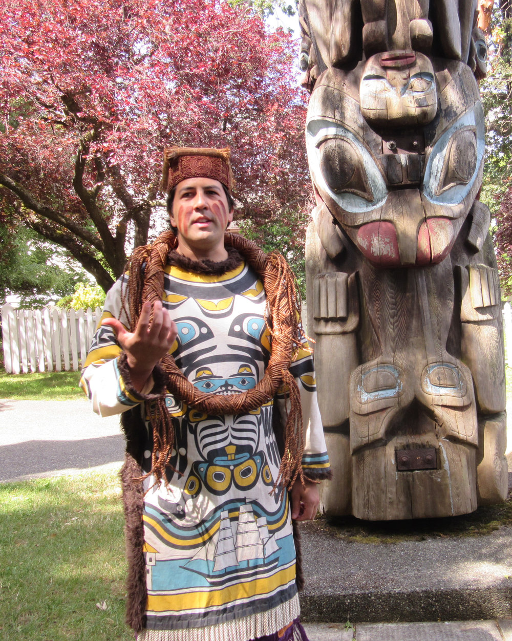 Guided tour of the totems. Photo by trudy chiswell