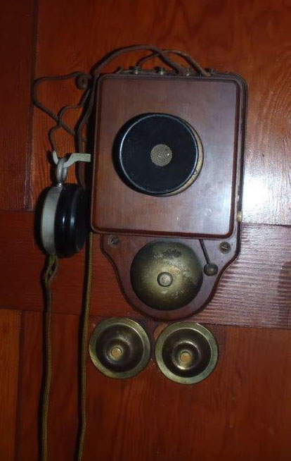 an old telephone - photo by Ted Ross