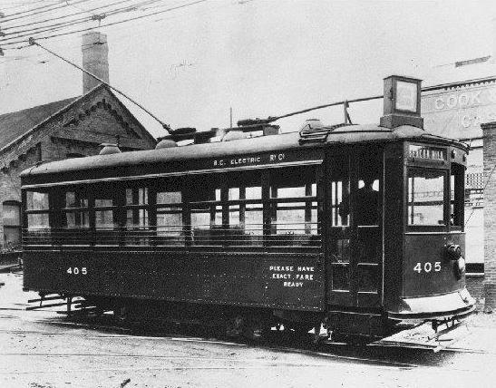 Beacon Hill streetcar - Victoria: Photo courtesy of BC Archive collection #E-01977