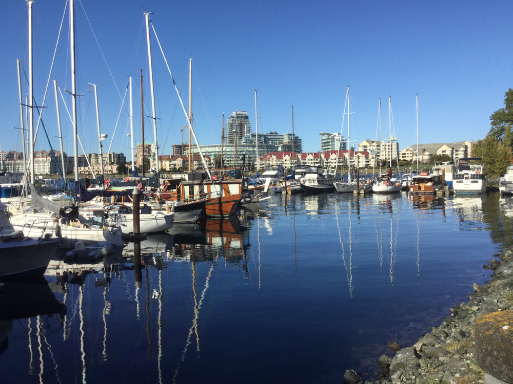 As you walk from Laurel Point to Fisherman's Wharf you are treated to beautiful vistas such as this marina.
