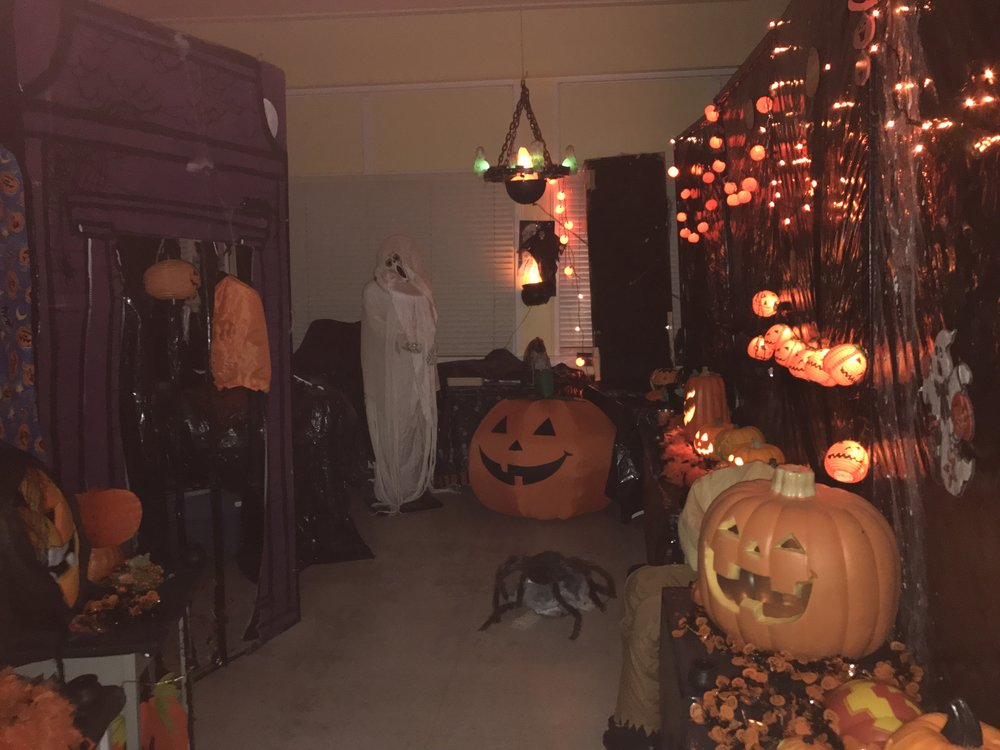 A portion of the 2017 Halloween Den at James Bay Community School. Photo by Dave Vargas.