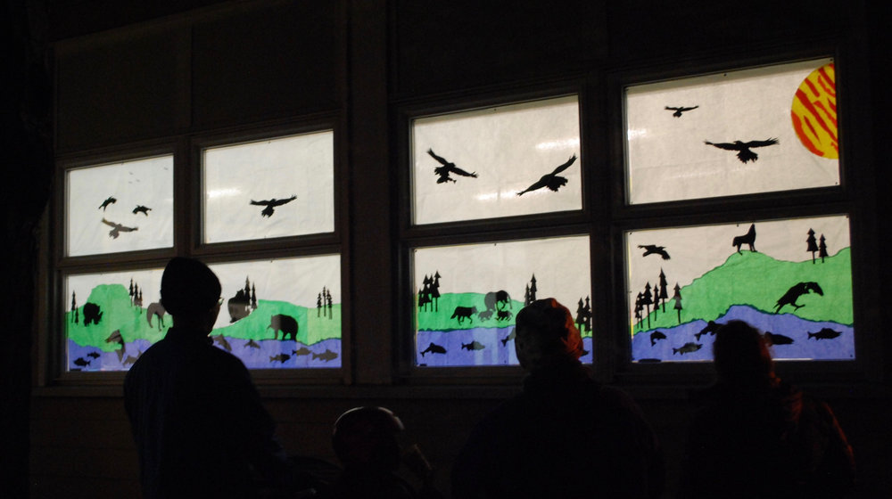 James Bay Community School display from the first Window Wanderland. Photo by Robert Hawkes