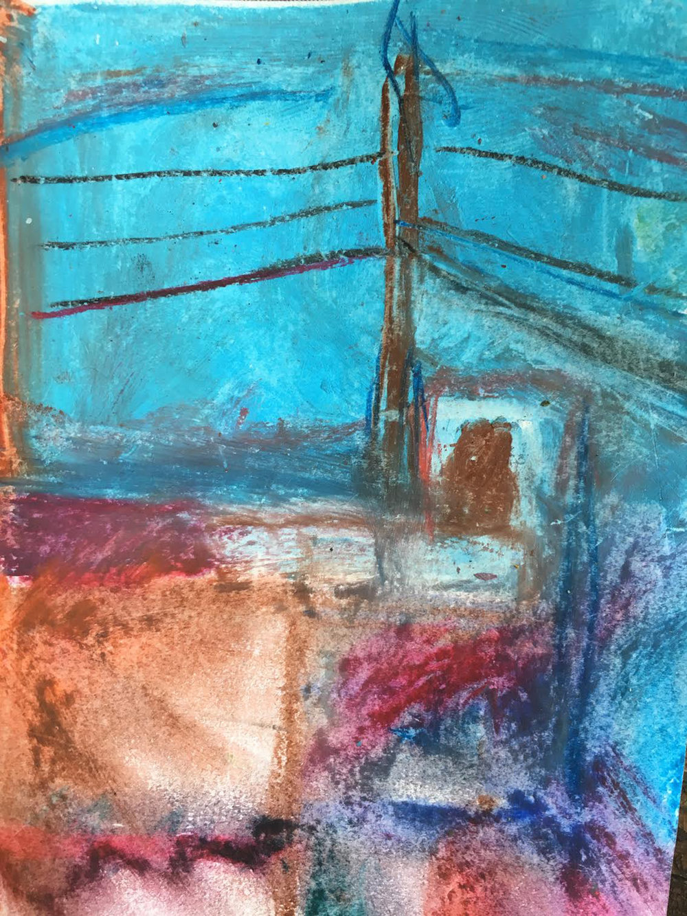 """""""Electric cabin"""" pastel"""