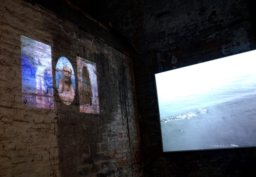 特别项目展览陈学刚的影像《天.地.狮》,军械库