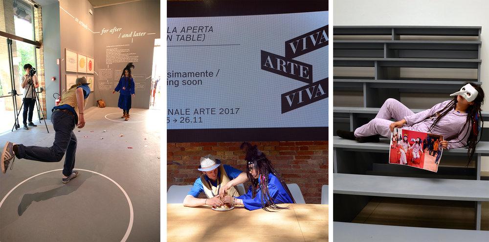Art-transborderer TanBo's performance, Giardini, 16,17 May